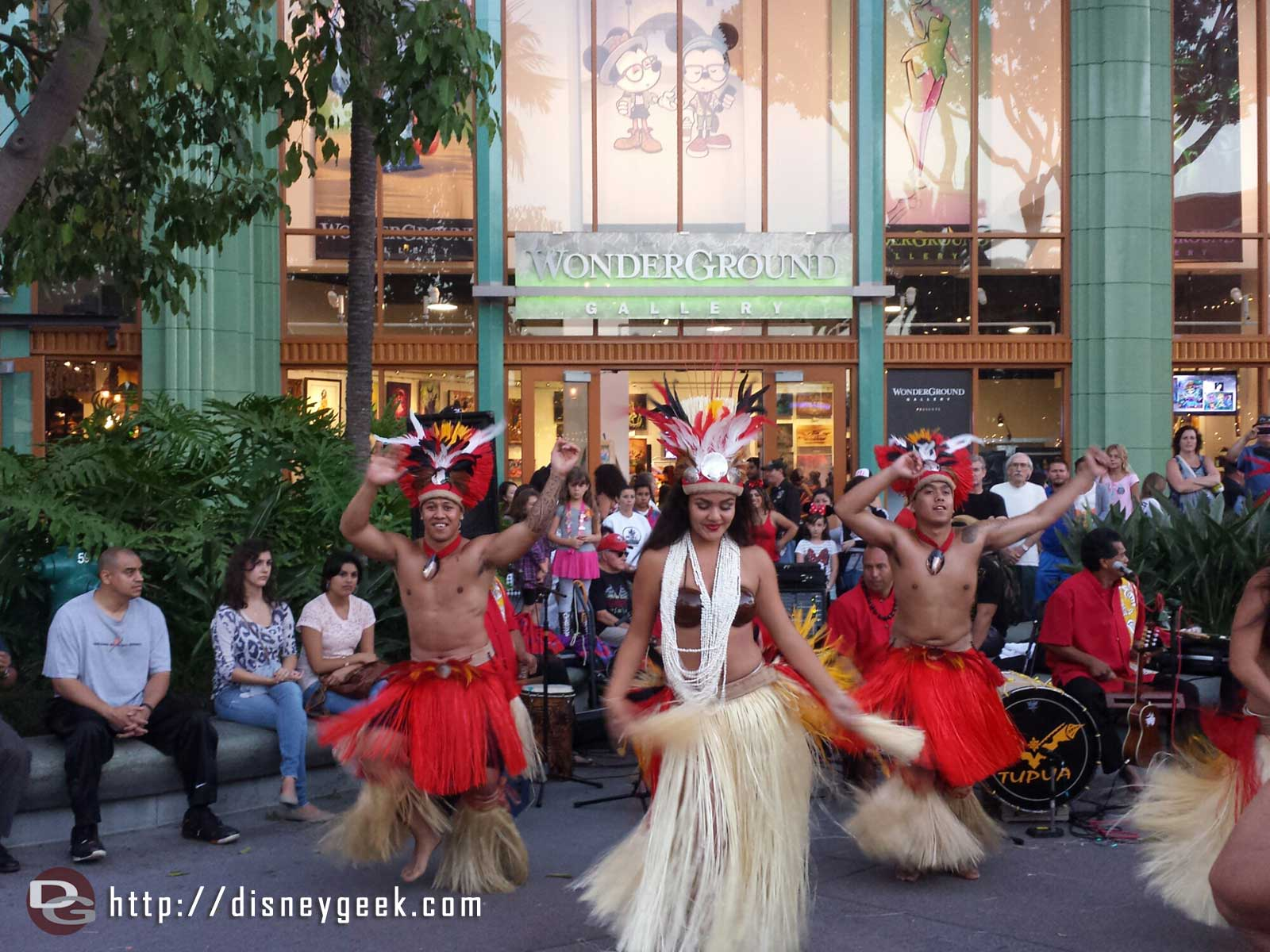 Stopped by Hawaiian Nights in Downtown Disney Tupua performing