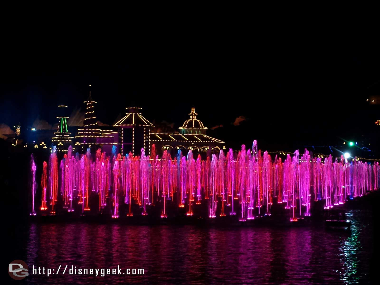 World of Color fountains