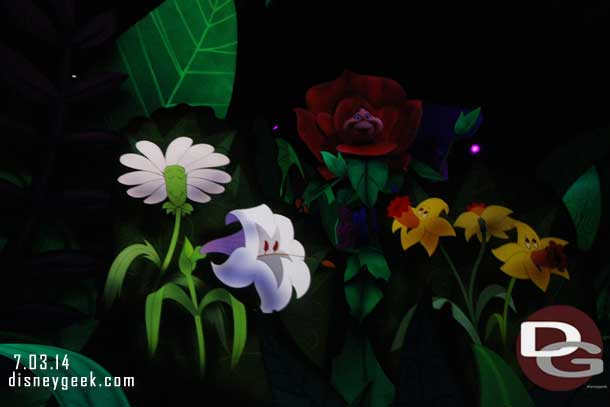 Alice in Wonderland Garden Sequence Comparison Pictures The