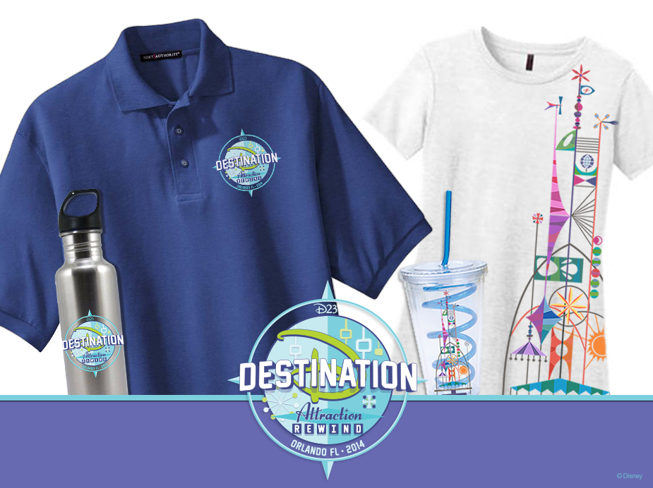 @DisneyD23 Destination D: Attraction Rewind Merchandise