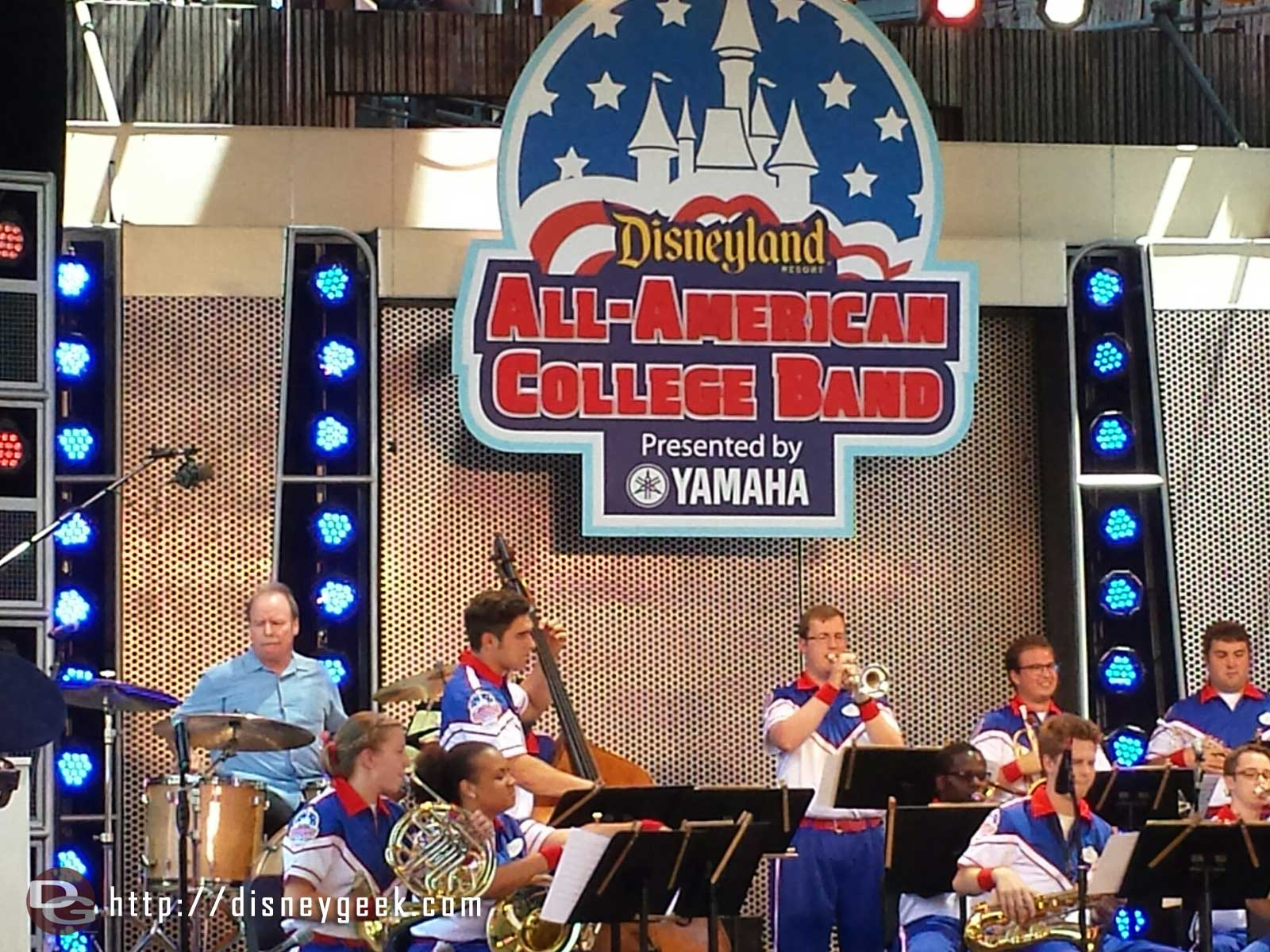 Today Steve Houghton is performing with the All-American College Band