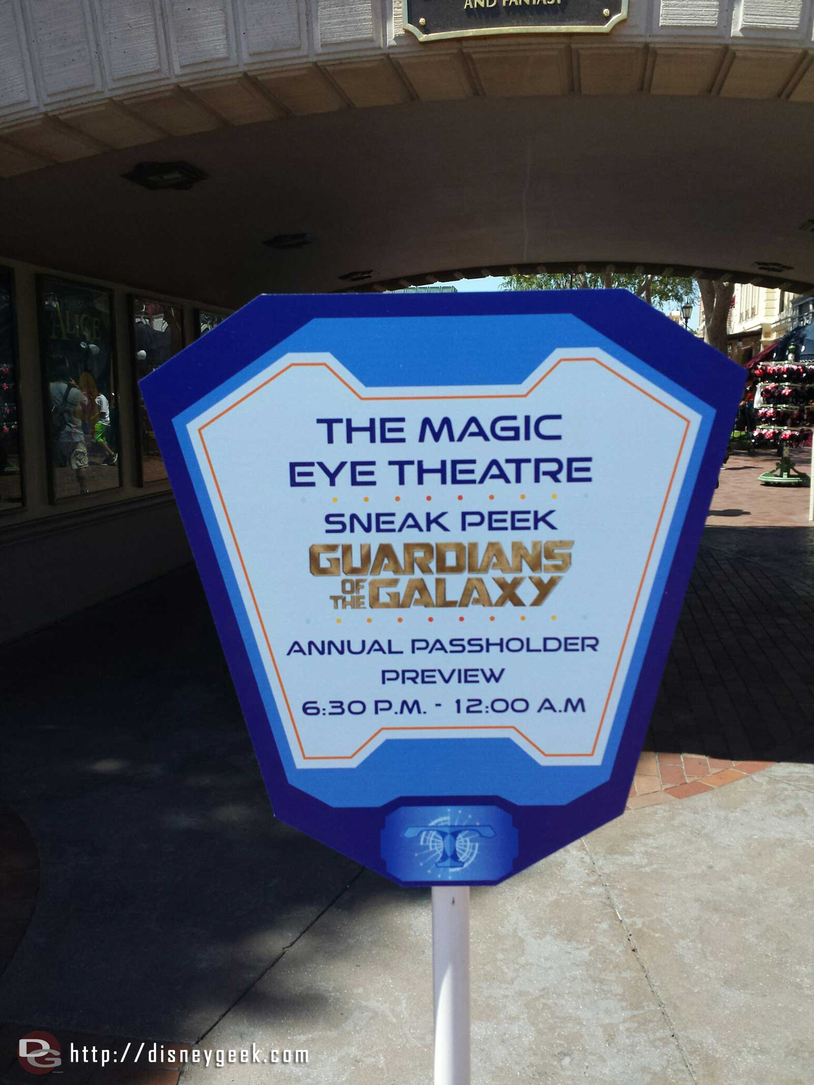 This evening there is a Disneyland Annual Passholder preview of the sneak peek of Guardians of the Galaxy