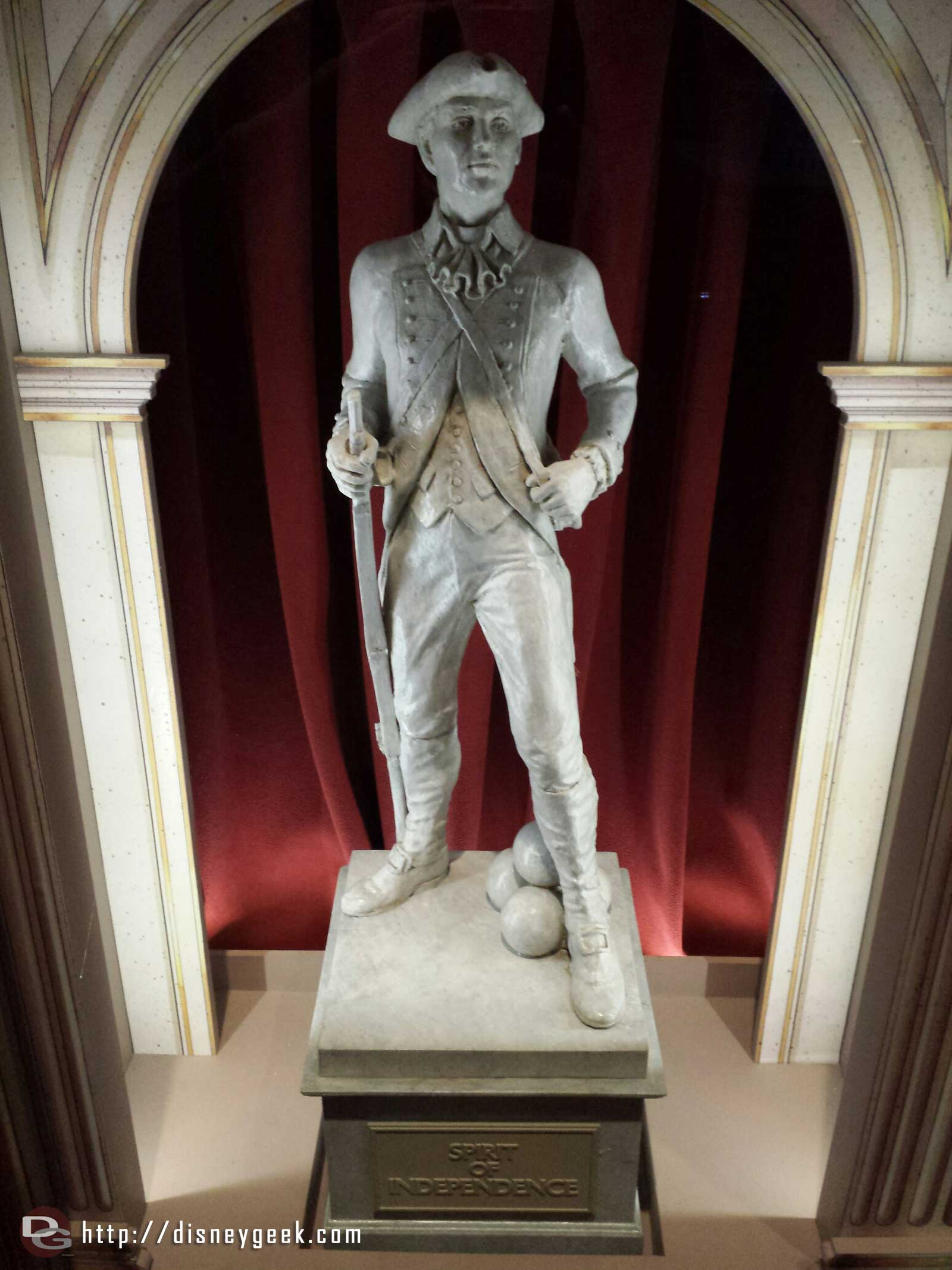The Spirit of Independence in the Great Moments with Mr. Lincoln lobby #Disneyland