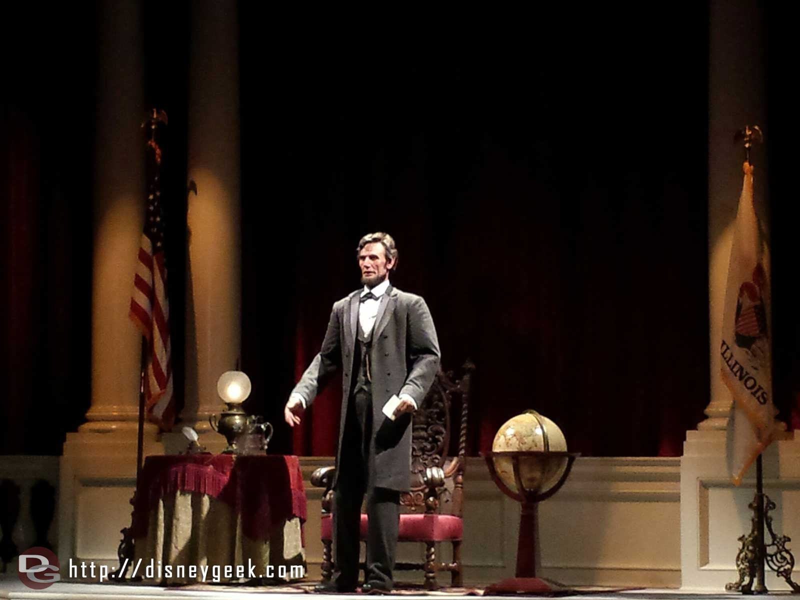 President Lincoln in Great Moments with Mr. Lincoln #Disneyland