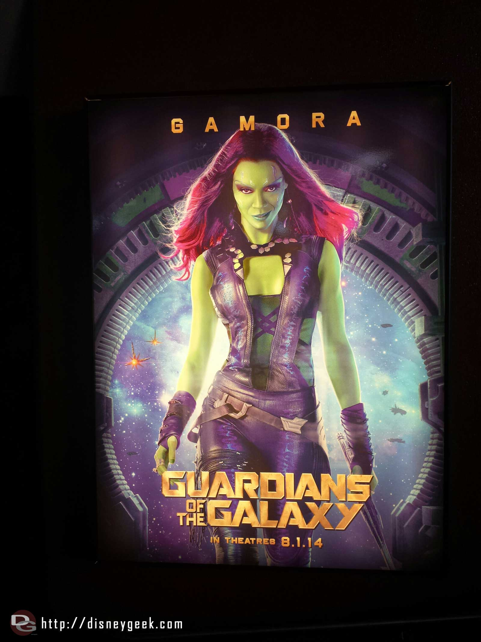 Stopping by the Magic Eye Theater for the AP preview of the sneak peek of Guardians of the Galaxy, here is one of the movie posters in the queue