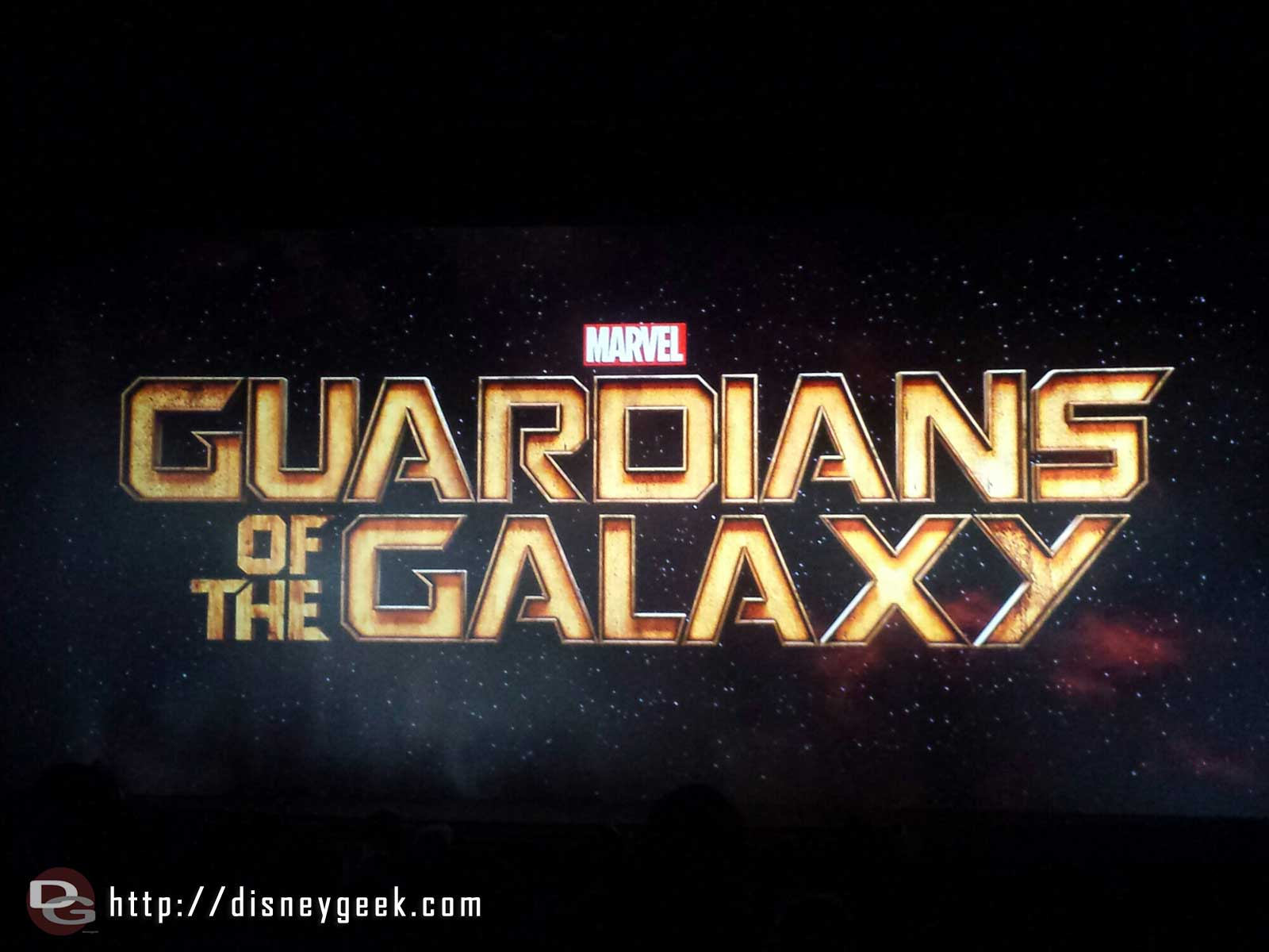 Guardians of the Galaxy title – the theater had around 100 guests in only.