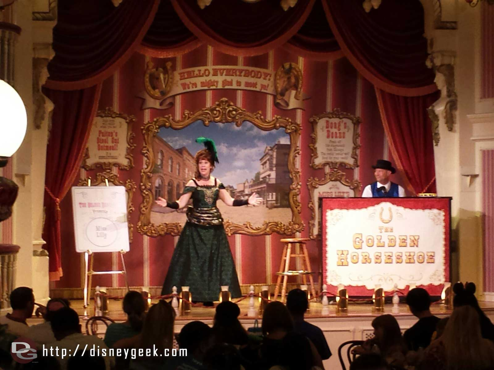 Miss Lilly performing in the Golden Horseshoe