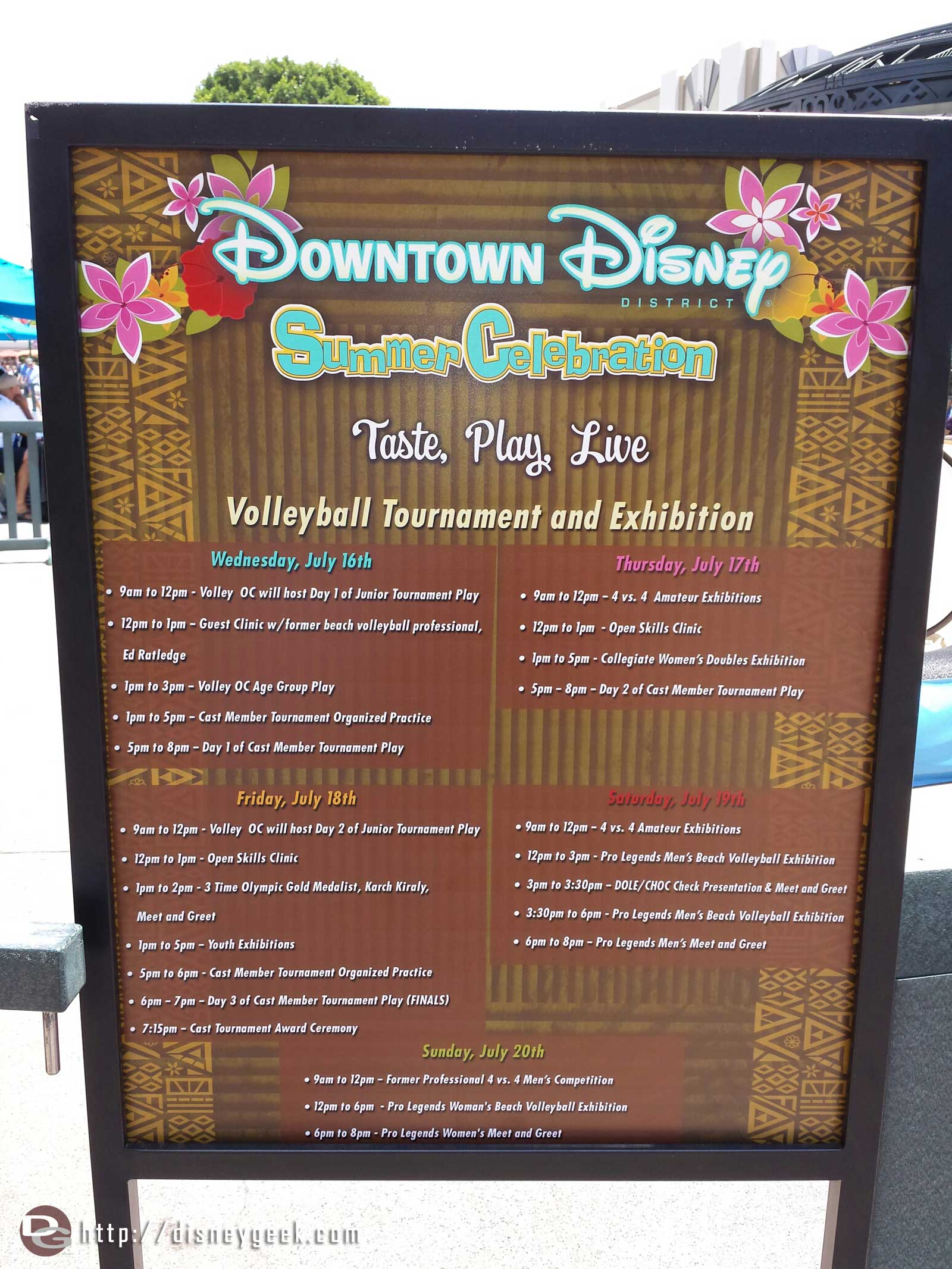 @DisneylandDTD is hosting a beach volleyball tournament this weekend here is the schedule