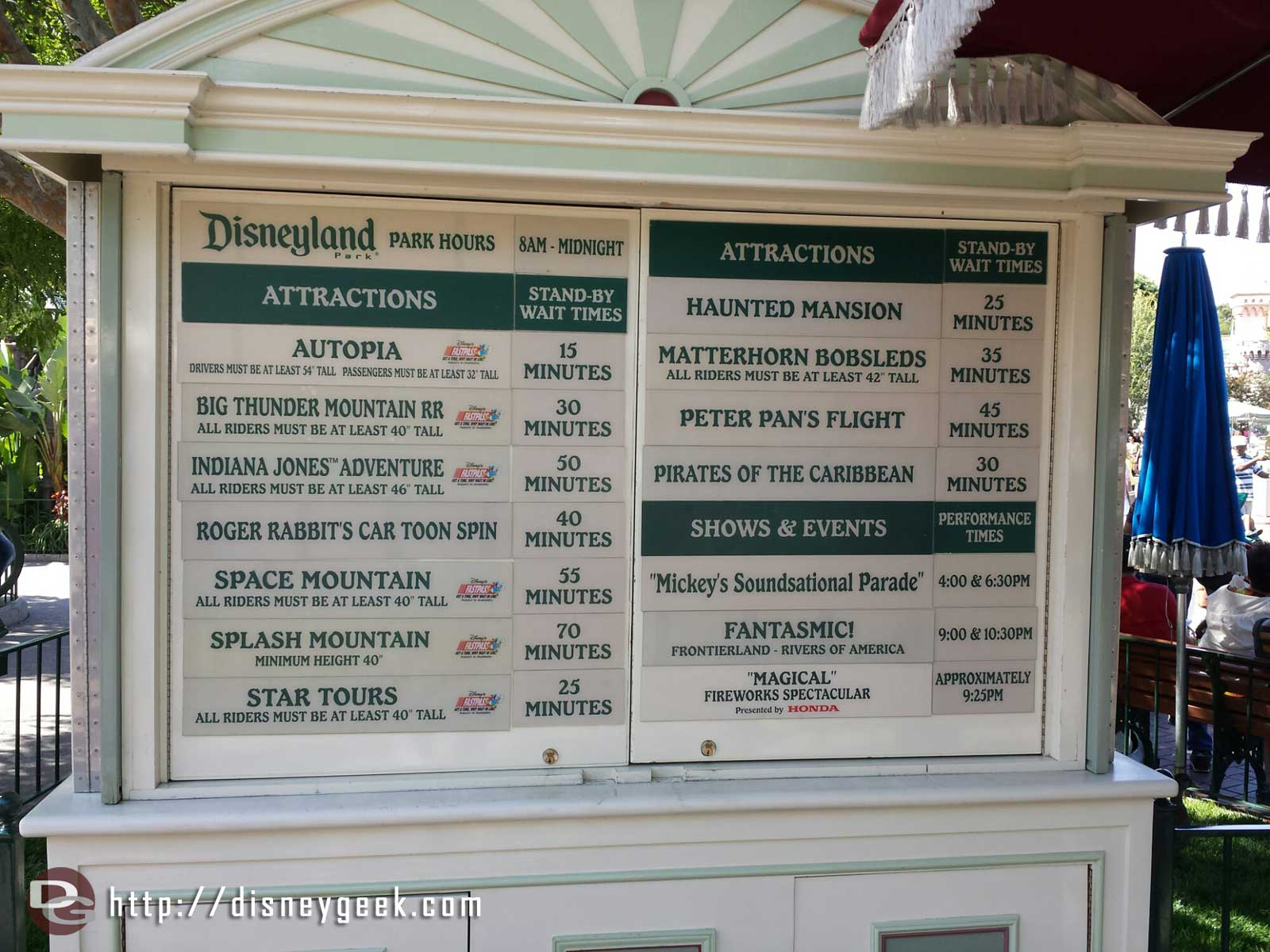 #Disneyland waits as of 3:45pm