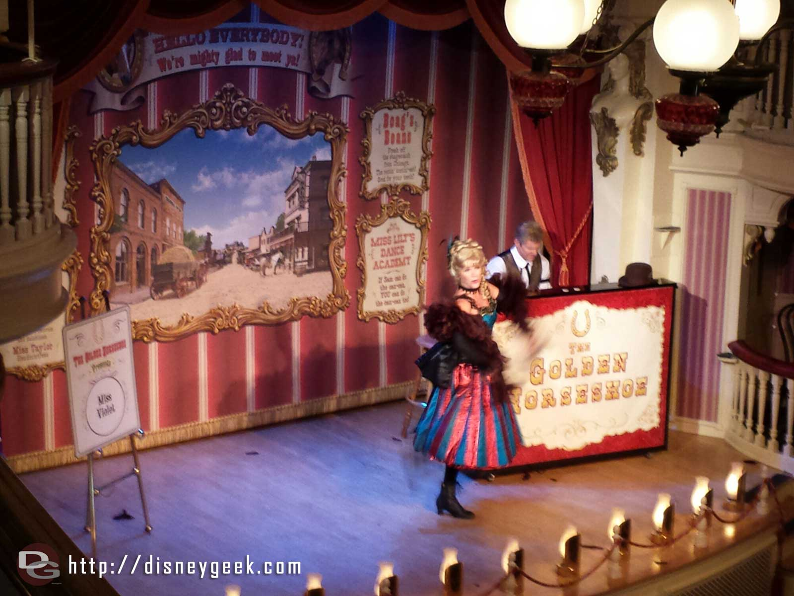 Miss Violet performing at the Golden Horseshoe this week