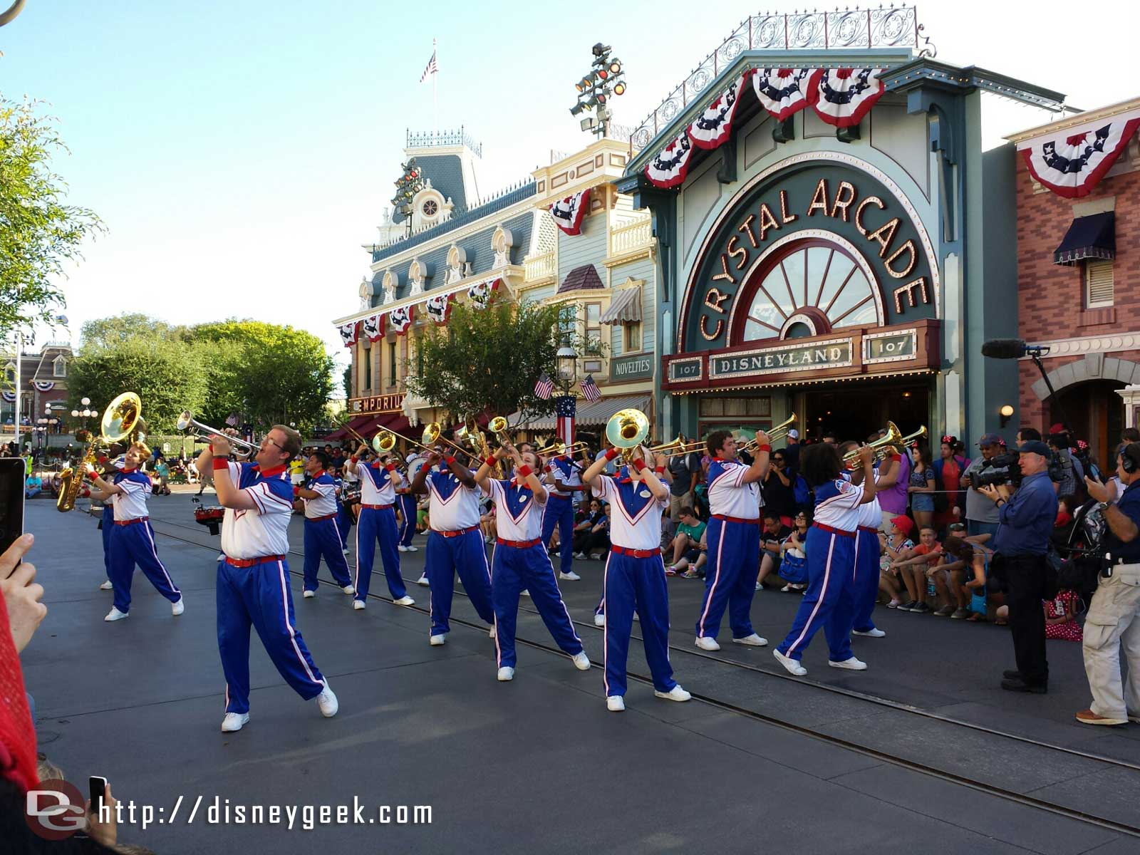 #Disneyland 2014 All-American College Band performing on Main Street USA
