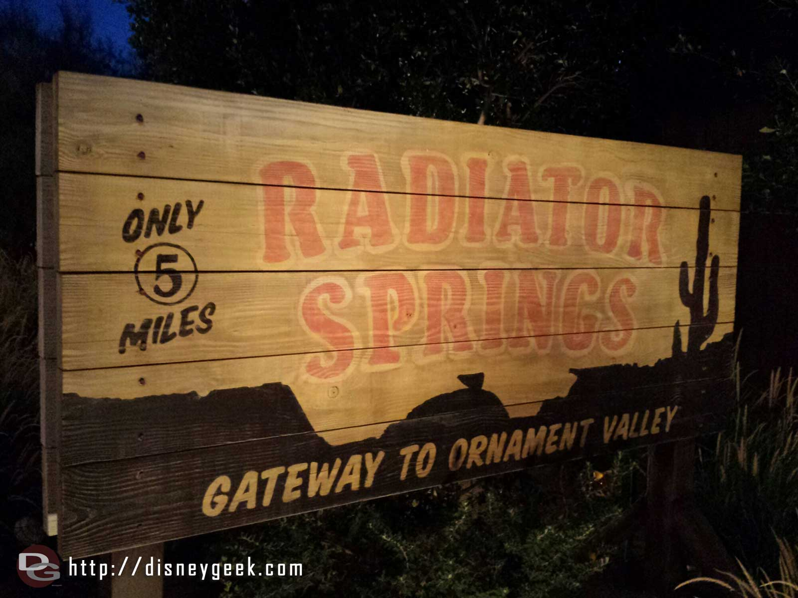 Only 5 more miles to Radiator Springs #CarsLand