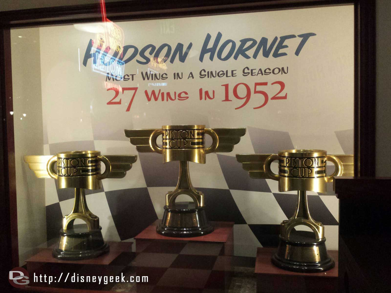 Piston Cup trophies, Hudson Hornet had 27 wins in 1952 #CarsLand