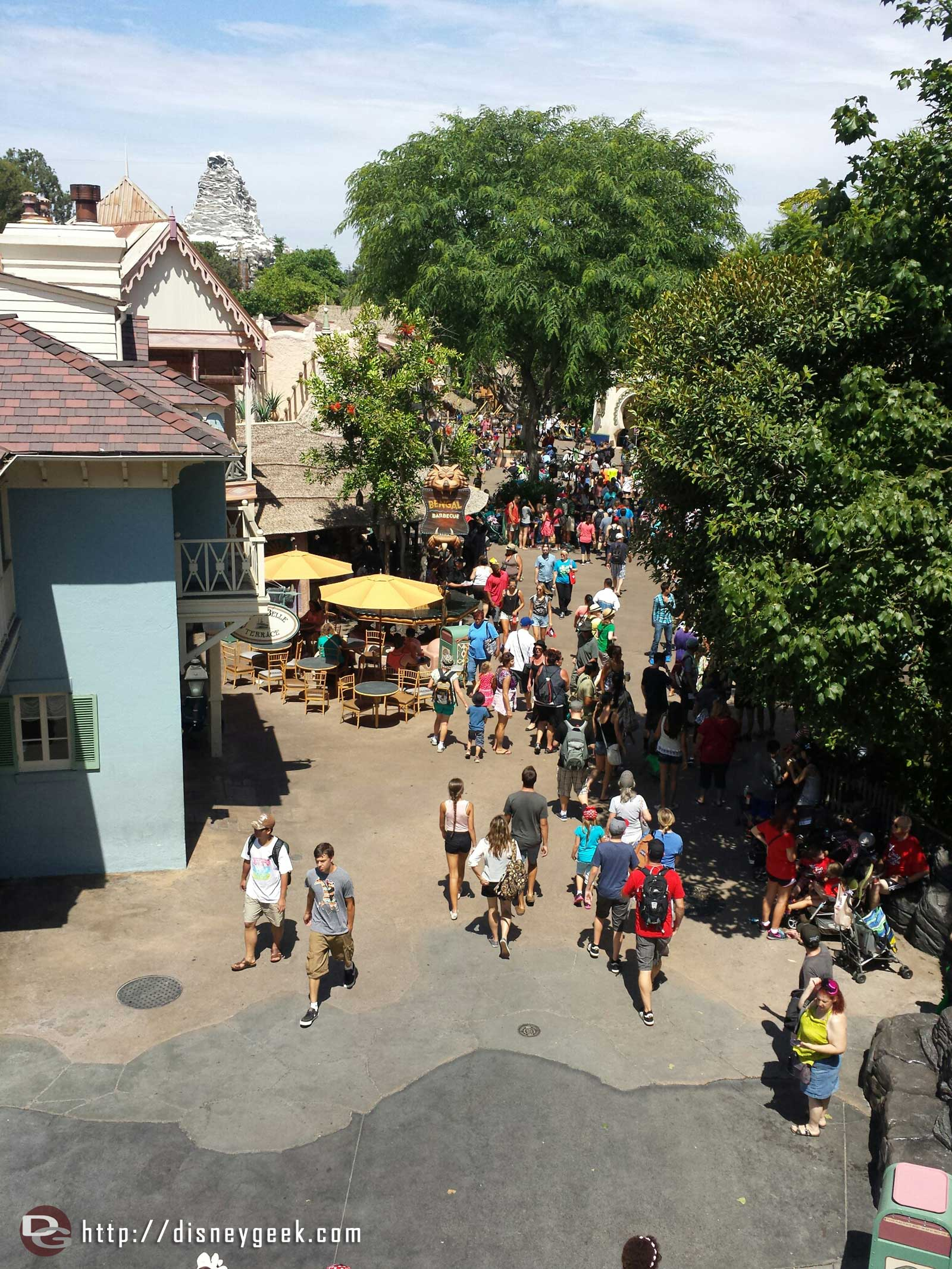 Adventureland from the tree house #Disneyland