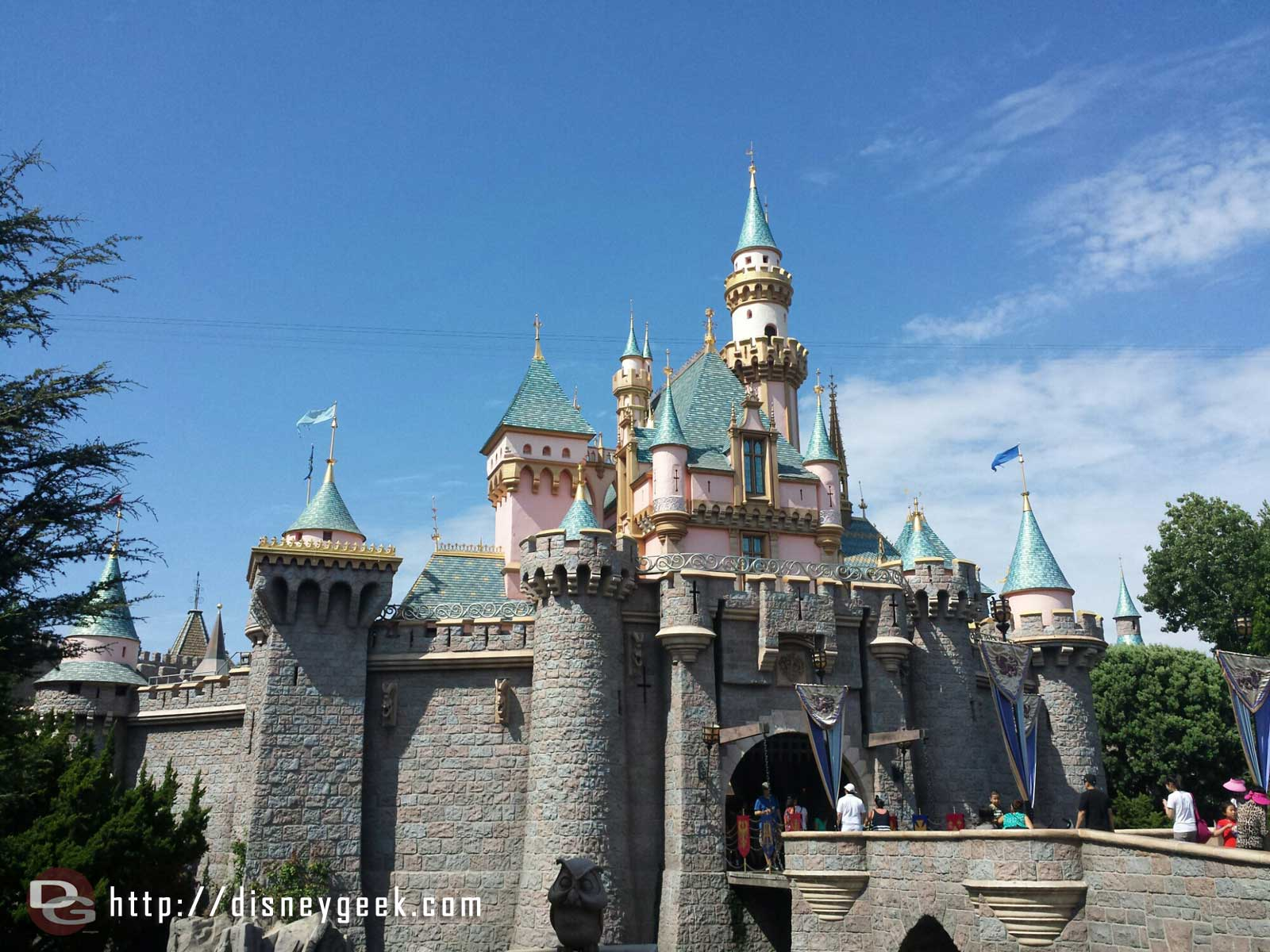 Sleeping Beauty Castle this afternoon #Disneyland