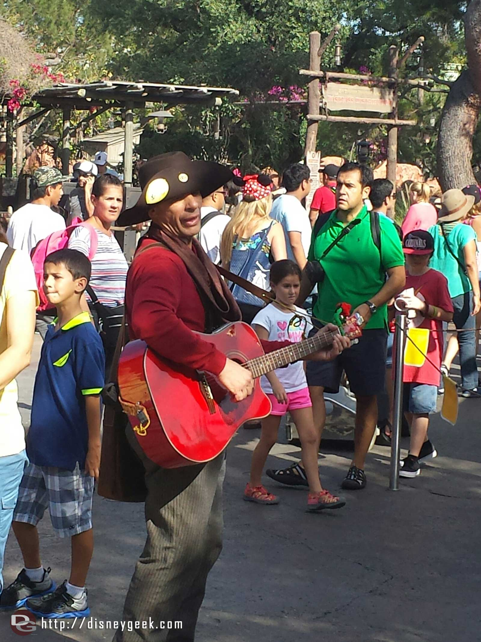 A Billy spotted in Frontierland taking part in the Legends of Frontierland: Gold Rush (his western name is Billy)