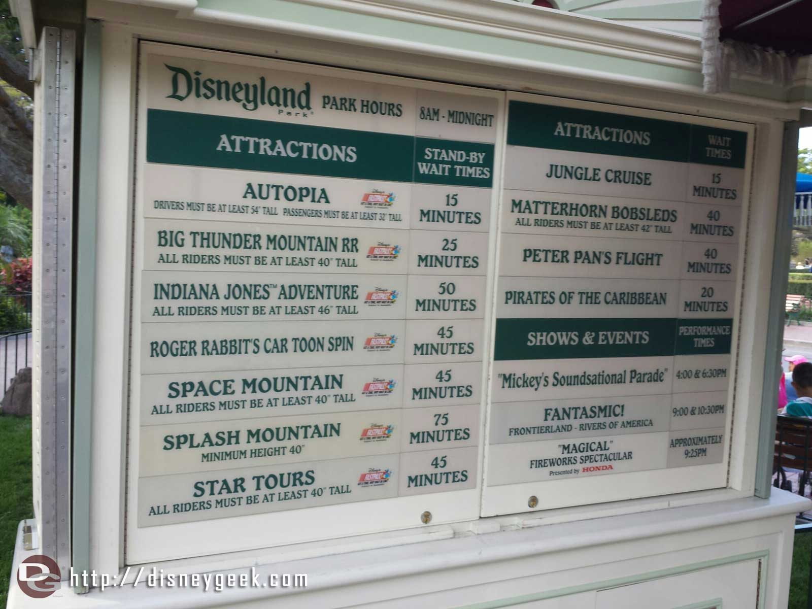 #Disneyland wait times at 5:54pm