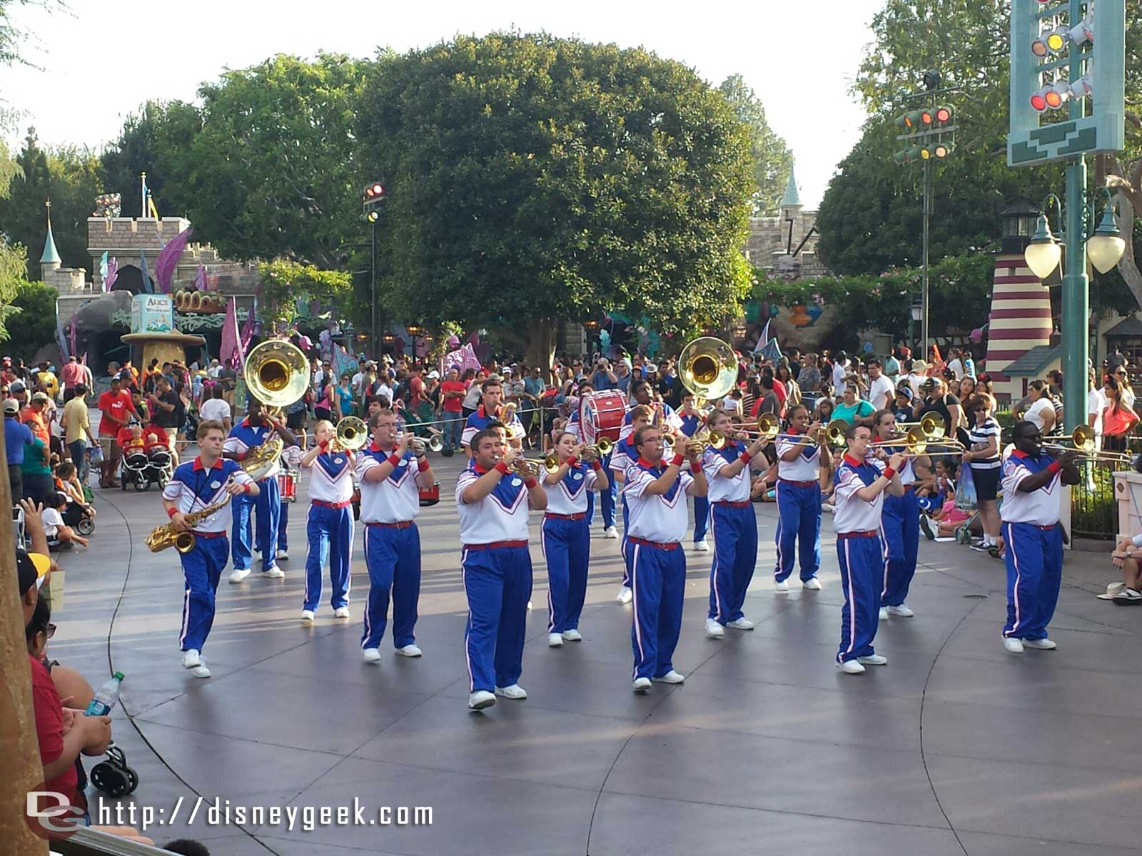 The 2014 #Disneyland All-American College Band performing in Fantasyland