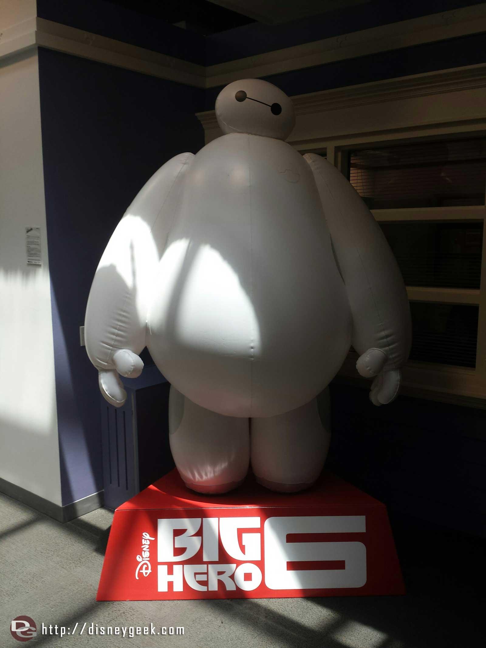 Baymax was on hand for photos #BigHero6 #MeetBaymax