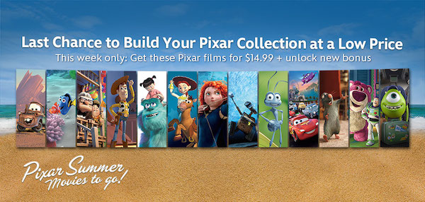 Disney Movies Anywhere's Pixar Summer Movies to Go