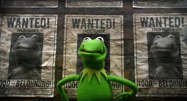 """MUPPETS MOST WANTED"" (Pictured) KERMIT. Photo by: Jay Maidment ?2013 Disney Enterprises, Inc. All Rights Reserved."