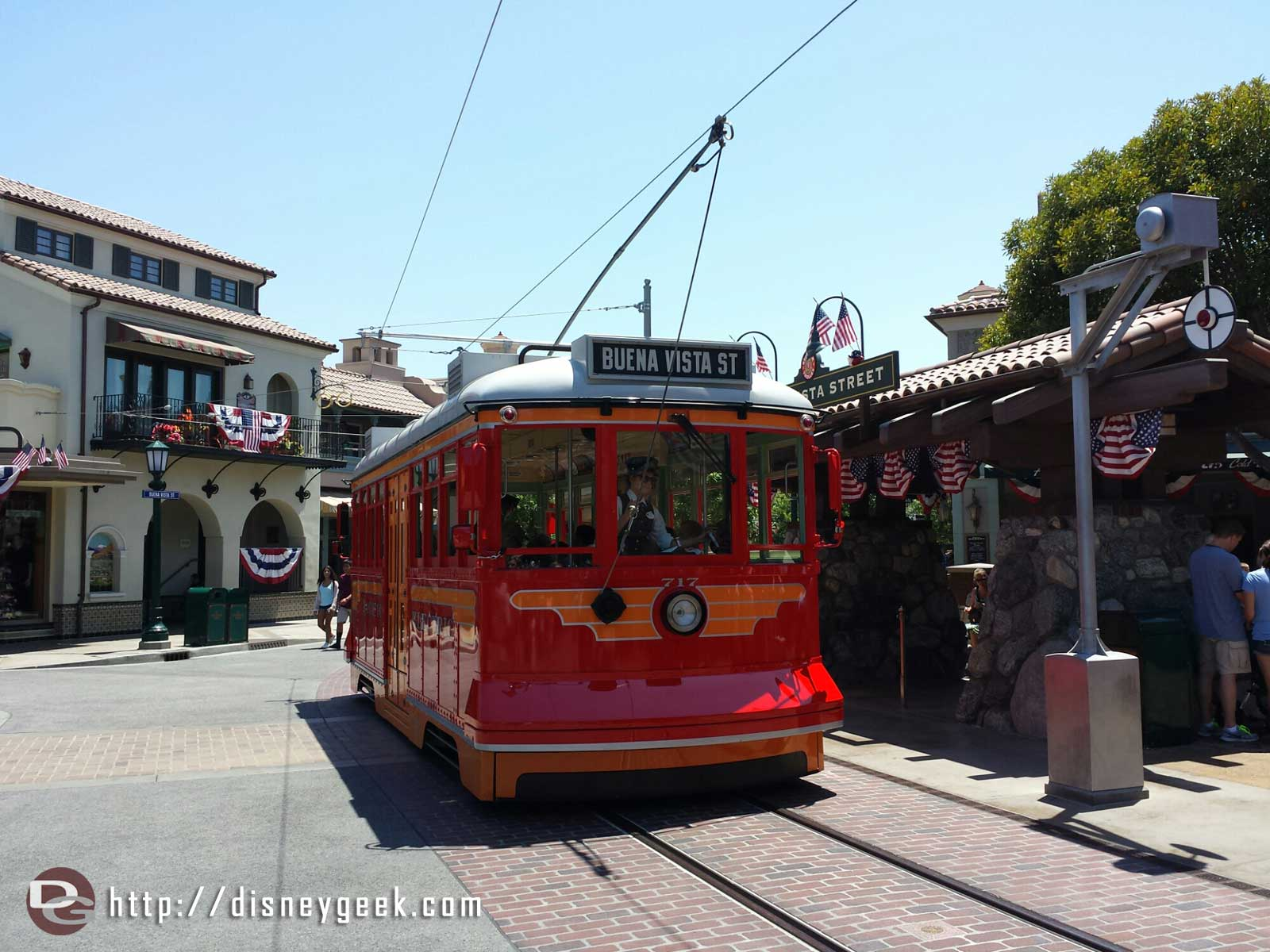 A Red Car Trolley on #BuenaVistaStreet
