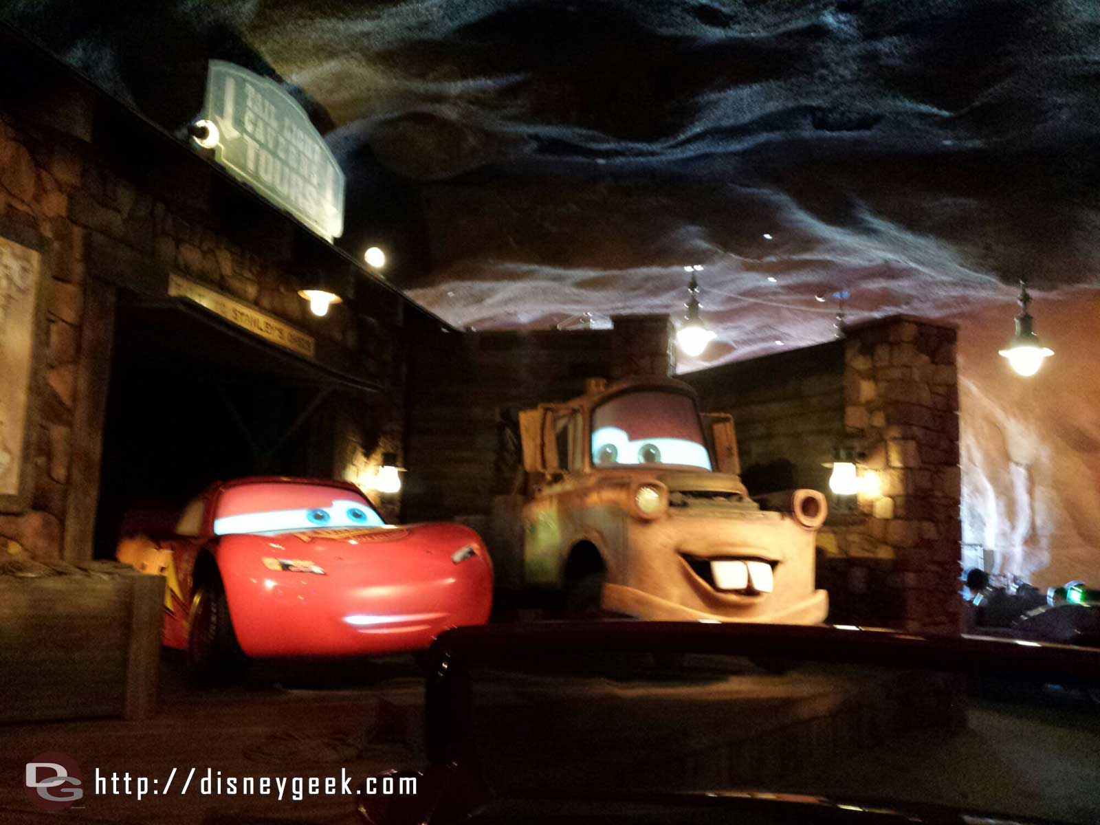 Lightning & Mater at the end of the Radiator Springs Racers #CarsLand