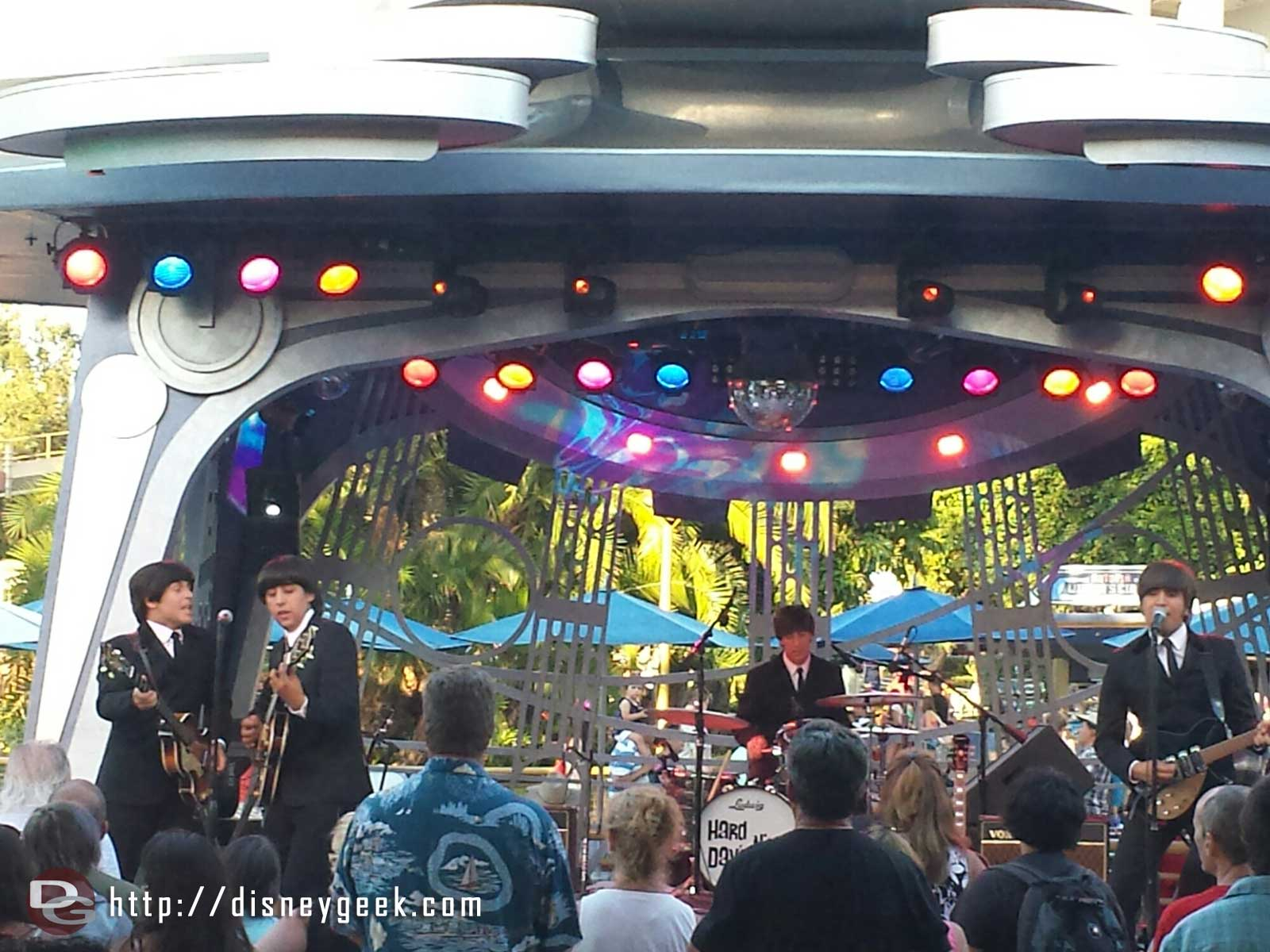 Hard Days Night a tribute to the Beatles are performing at Tomorrowland Terrace tonight