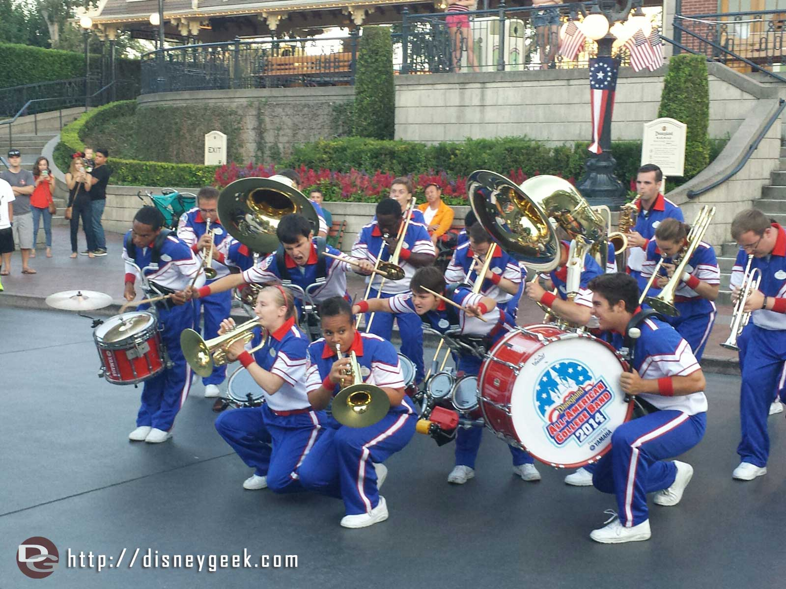 The 2014 #Disneyland All-American College Band performing in Town Square