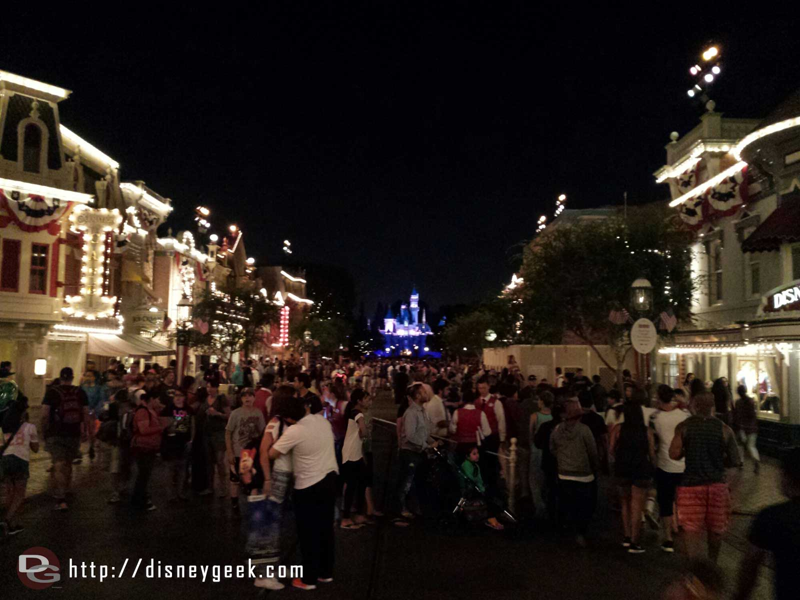 As I stepped onto Main Street they played the announcement that Magical may be cancelled due to winds tonight