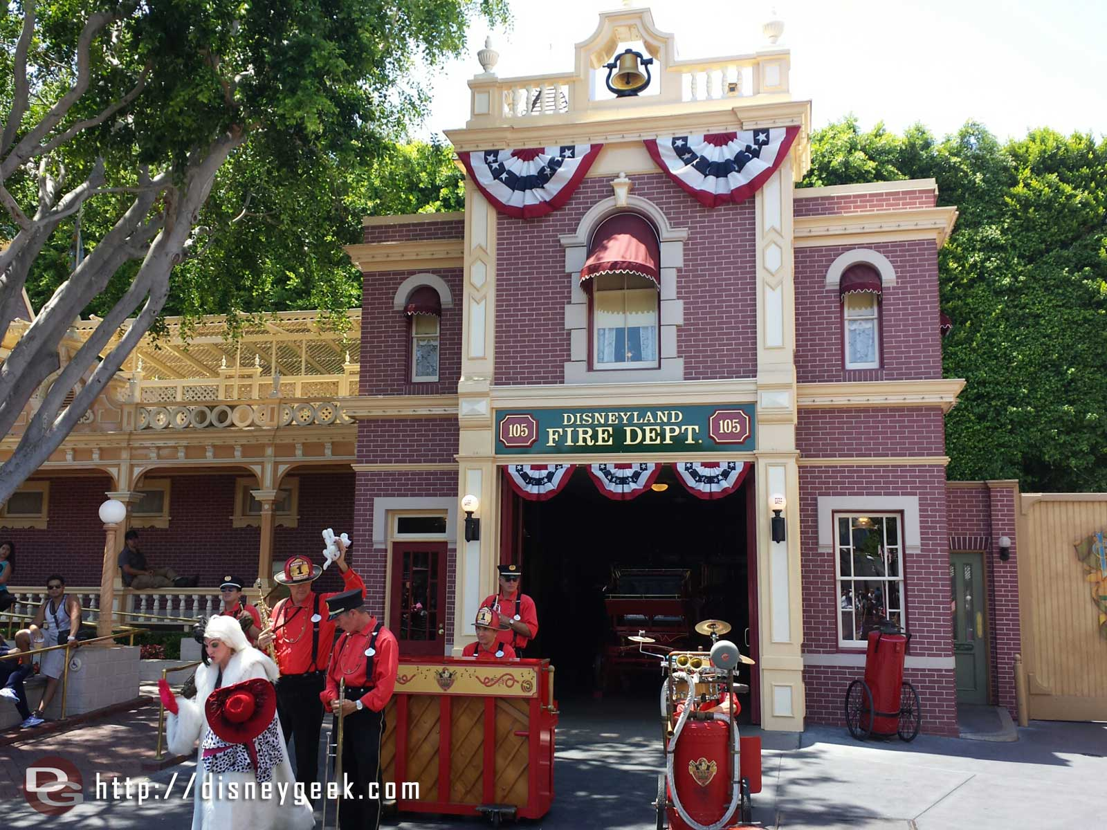 Cruella de Vil  Joins the Hook and Ladder Company on Main Street #Disneyland