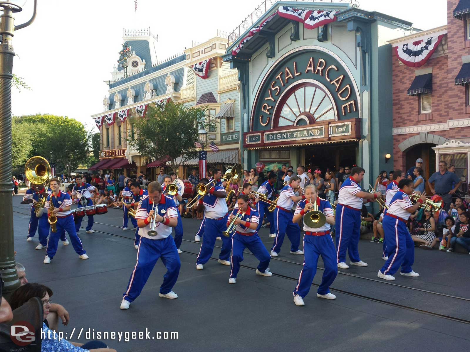 The 2014 #Disneyland All-American College Band performing before Soundsational