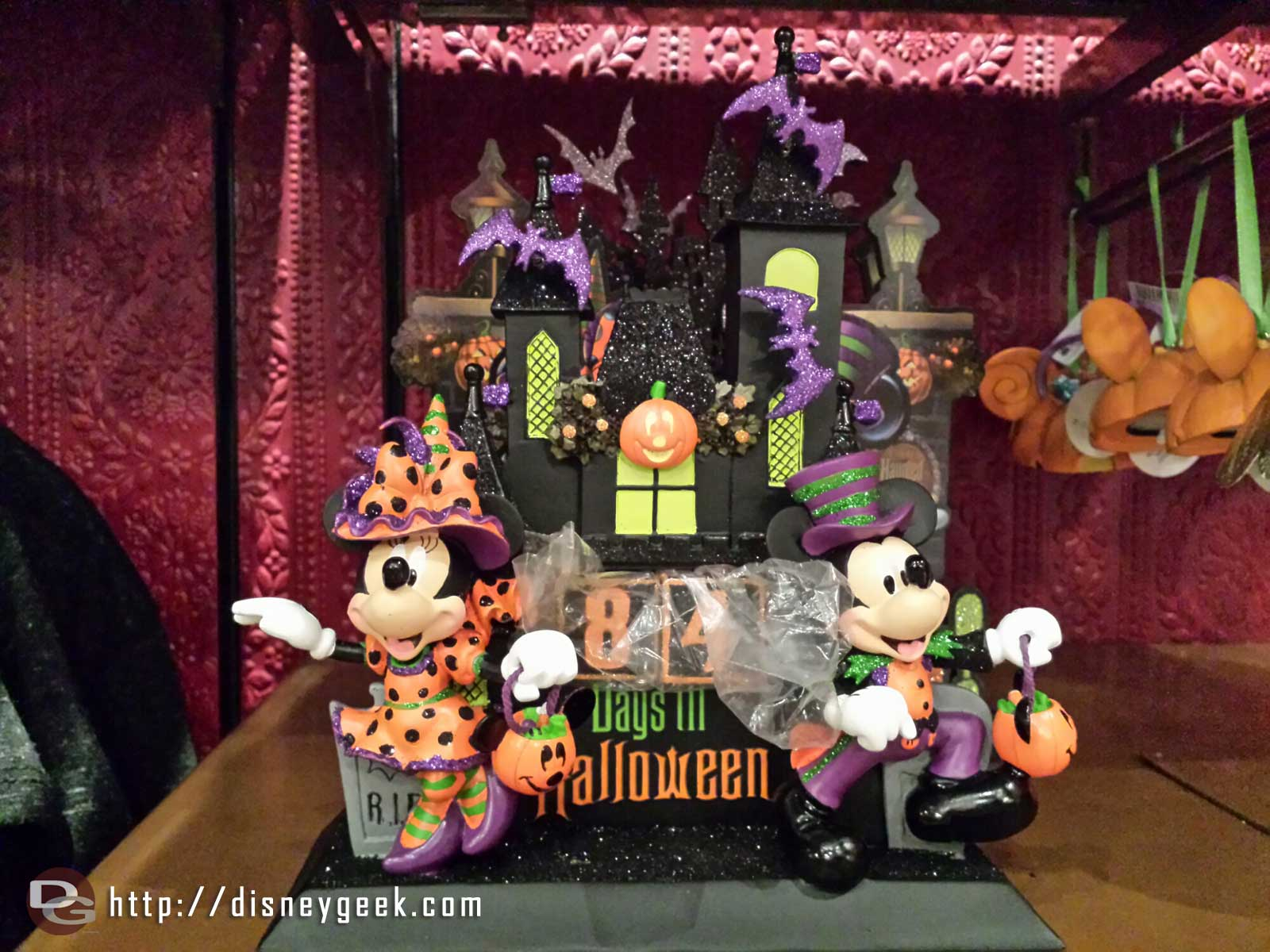 Halloween merchandise is also in the Disney Showcase on Main Street, here is a count down calendar