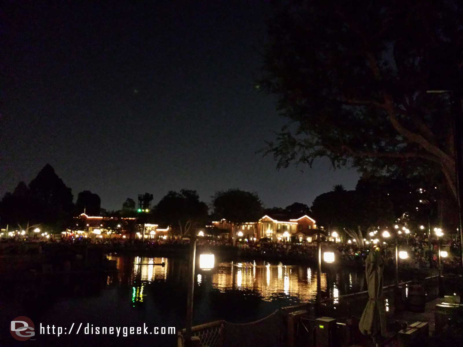 Made it to the Rivers of America for Fantasmic with 2 minutes to spare #Disneyland
