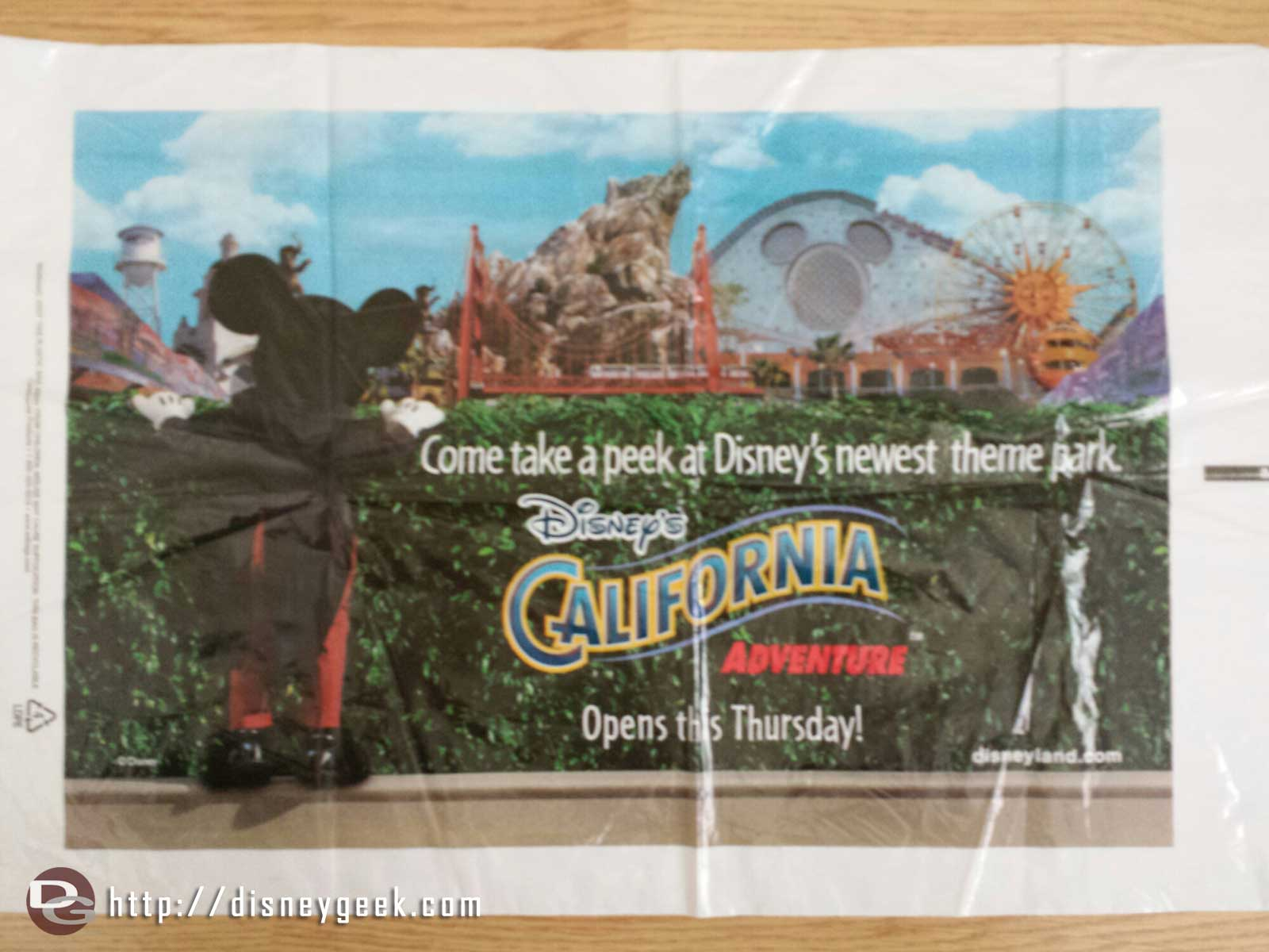 Going through some items and came across this DCA opens this Thursday bag.  Don't remember what its from.