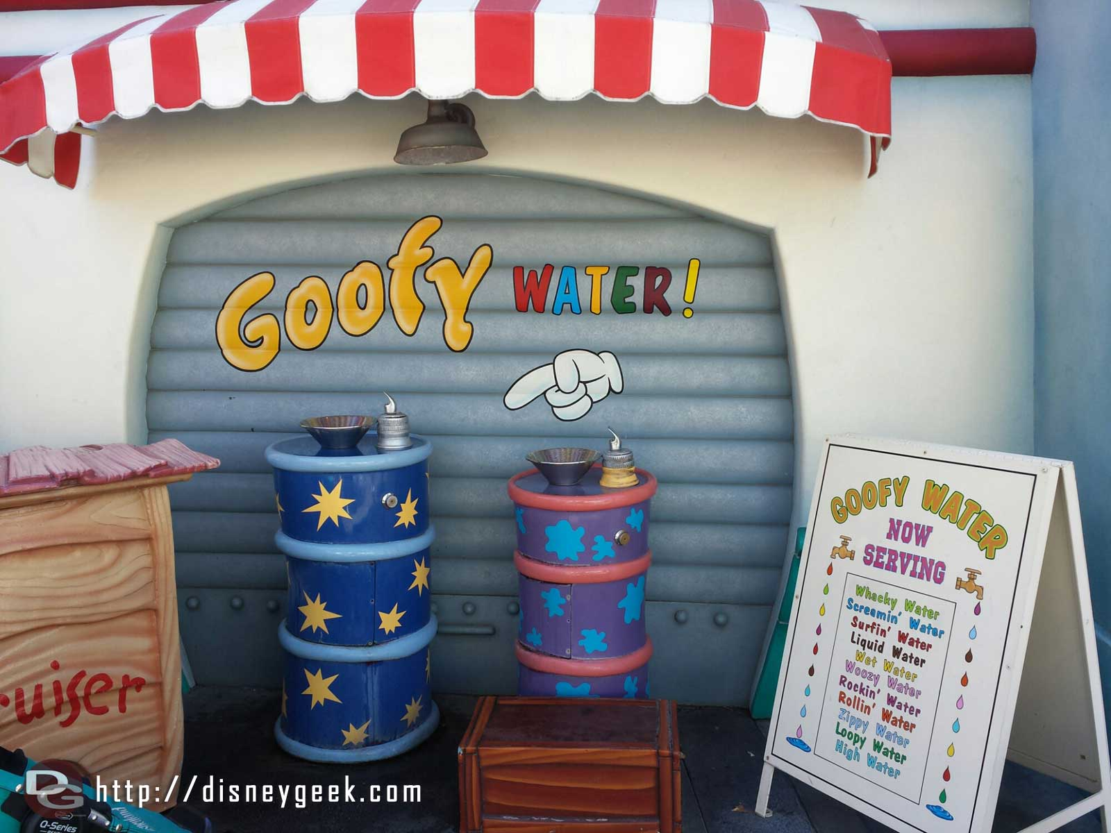 On a warm day in the parks remember to stay hydrated.  Goofy Water is among the coolest drinking fountains in the parks