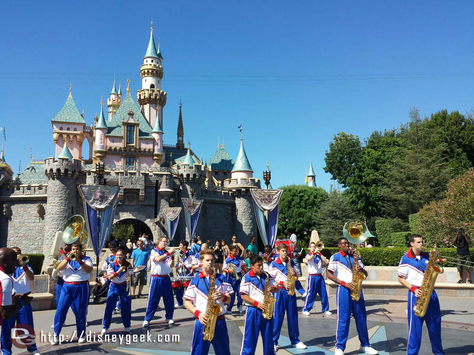 Last Castle set for the 2014 #Disneyland All-American College Band