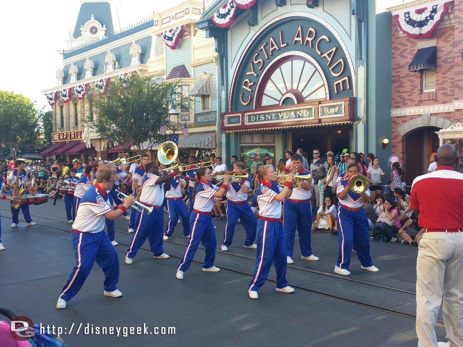 The 2014 #Disneyland All-American College Band performing on Main Street USA
