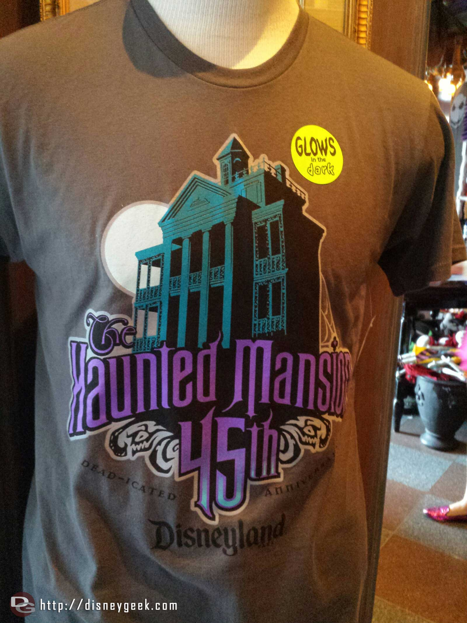 Some Haunted Mansion 45th Anniversary merchandise is sti available in New Orleans Square
