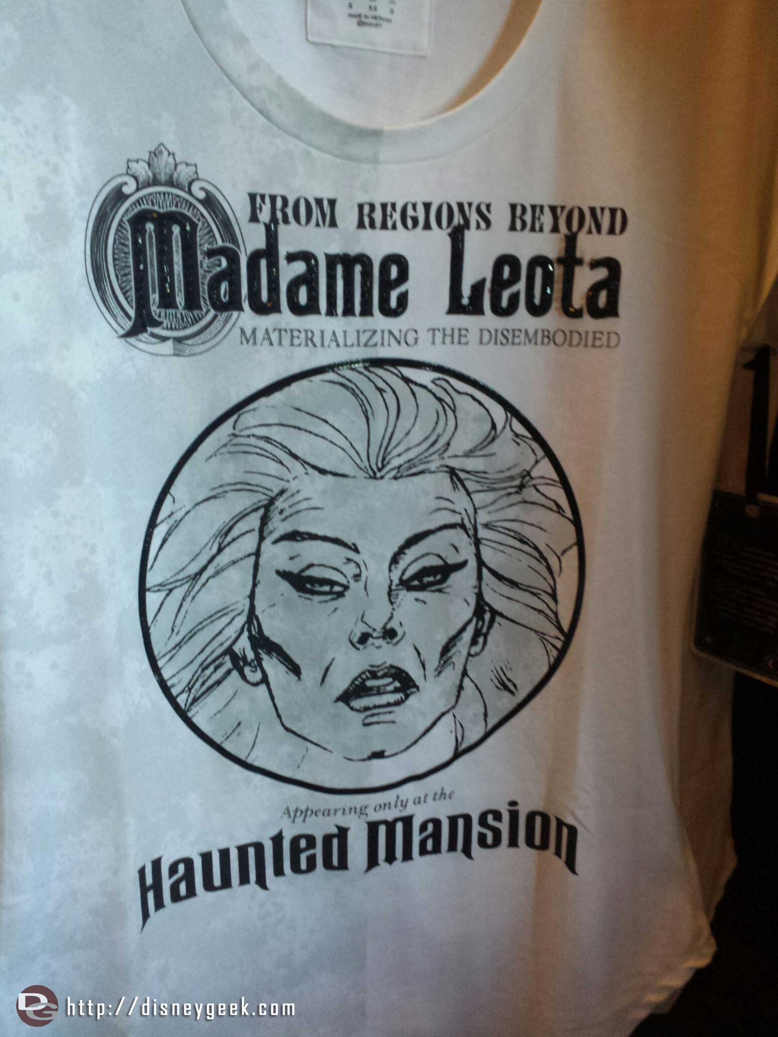 Also plenty of open edition merchandise for the Haunted Mansion – A Madame Leota shirt