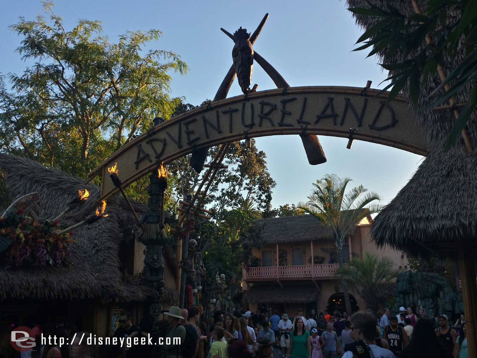 Adventureland entrance #Disneyland