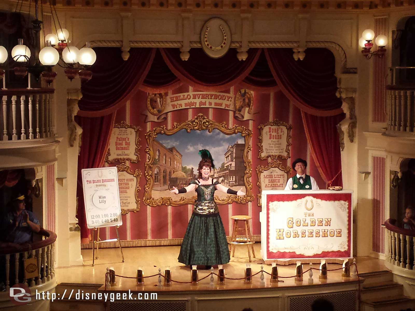 Stopped by the Golden Horseshoe, Miss Lilly was performing #Disneyland