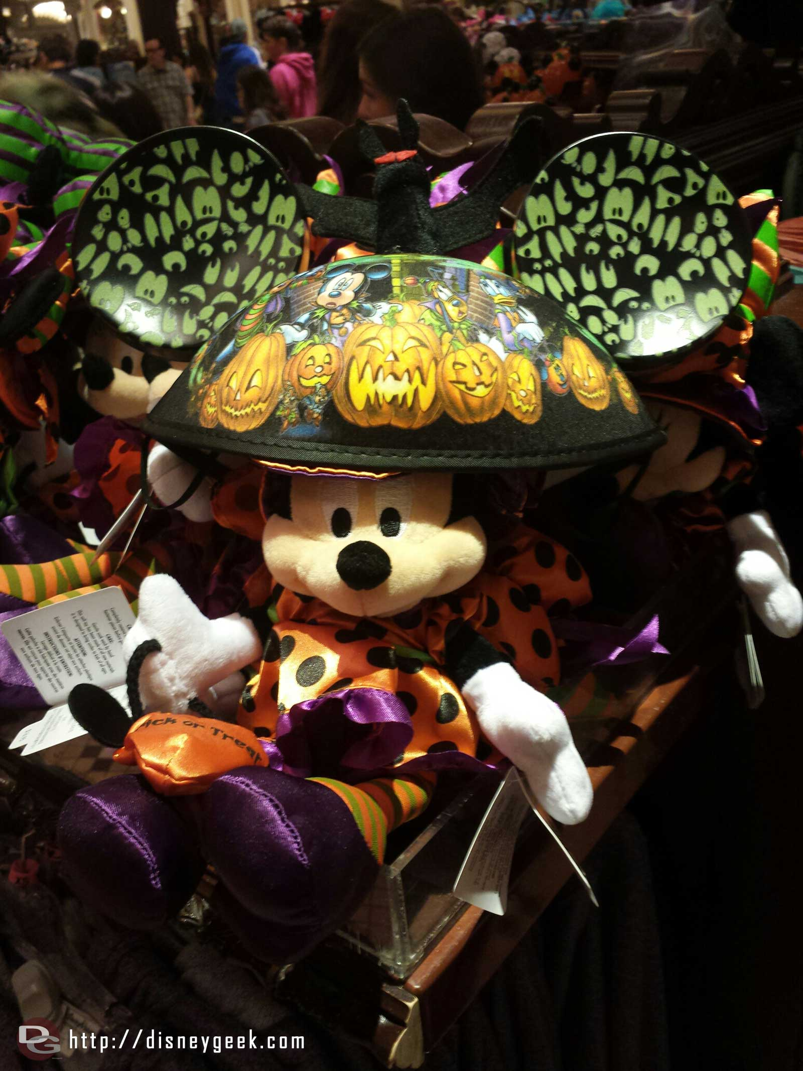 Halloween ears and a Minnie doll in the Emporium