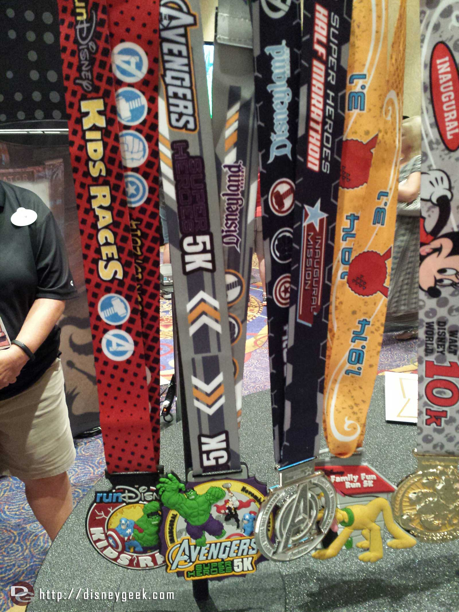 Some of the Marvel race weekend medals on display #runDisney