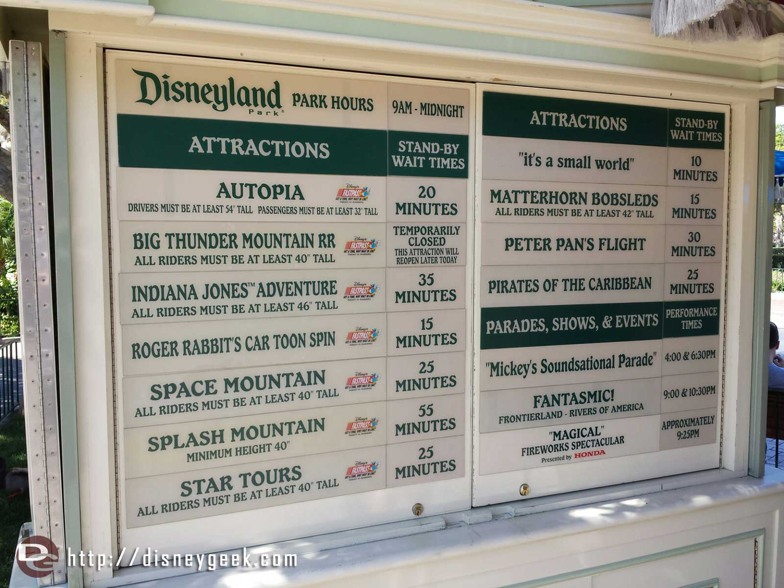 #Disneyland waits as of 2:49pm