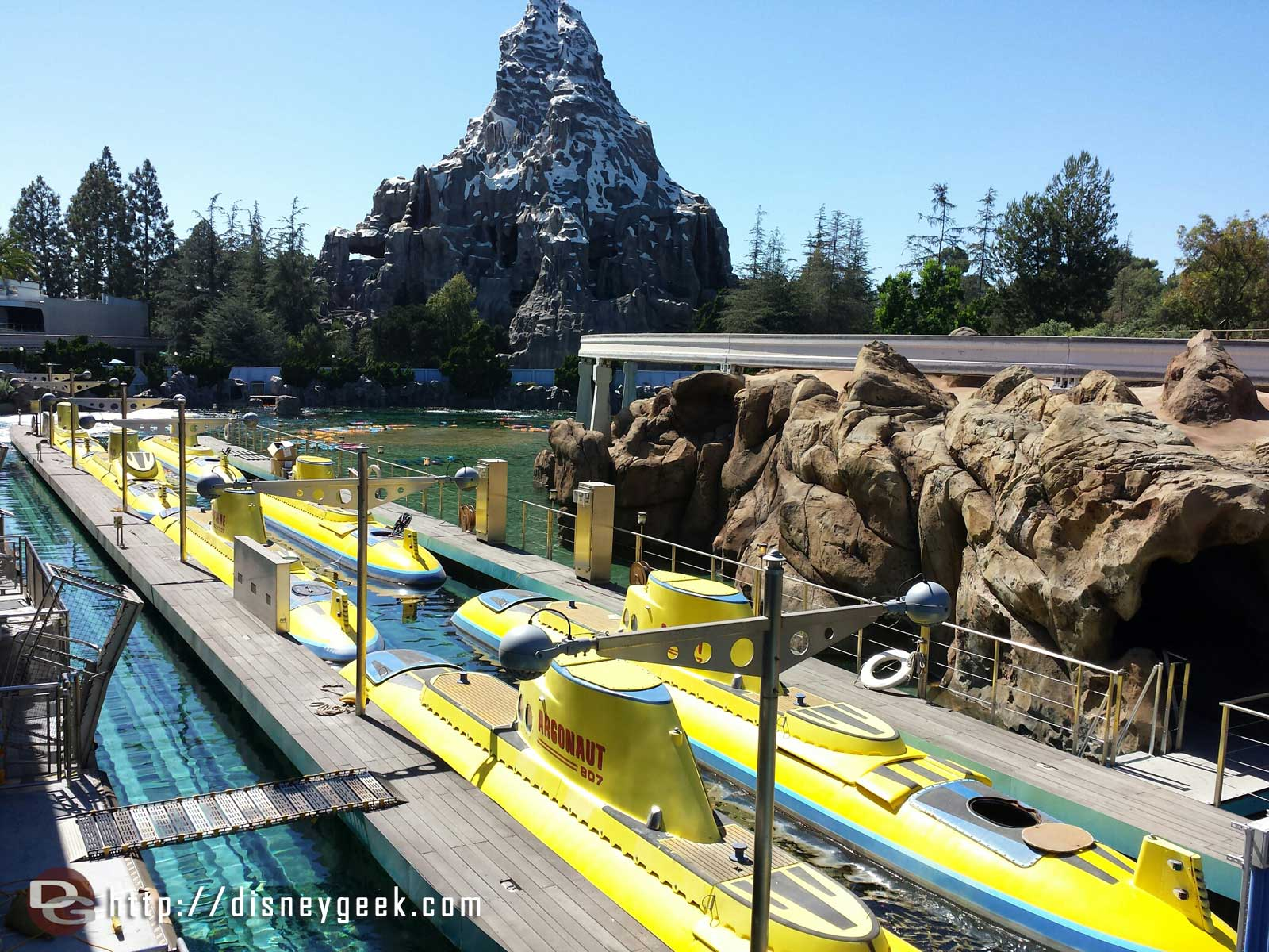 The sub lagoon has been filled since last week #Disneyland submarine fleet