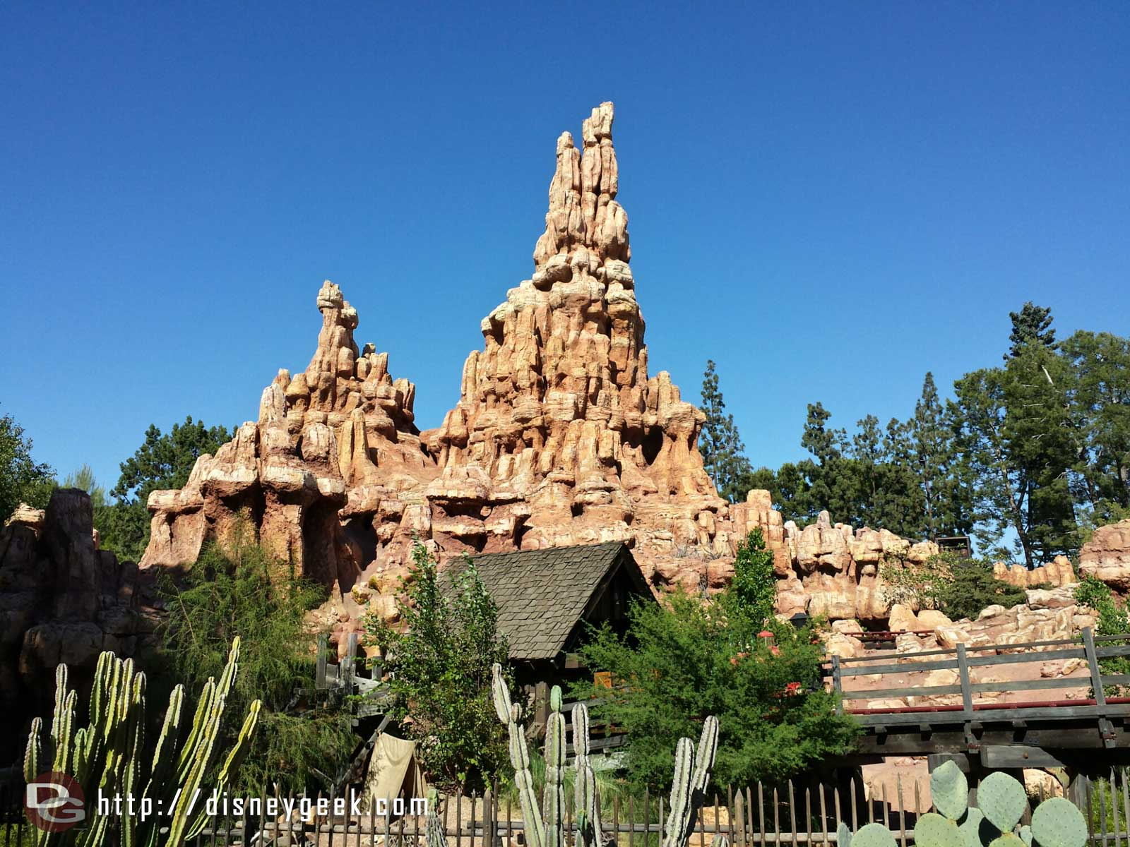 Big Thunder #Disneyland on this clear afternoon