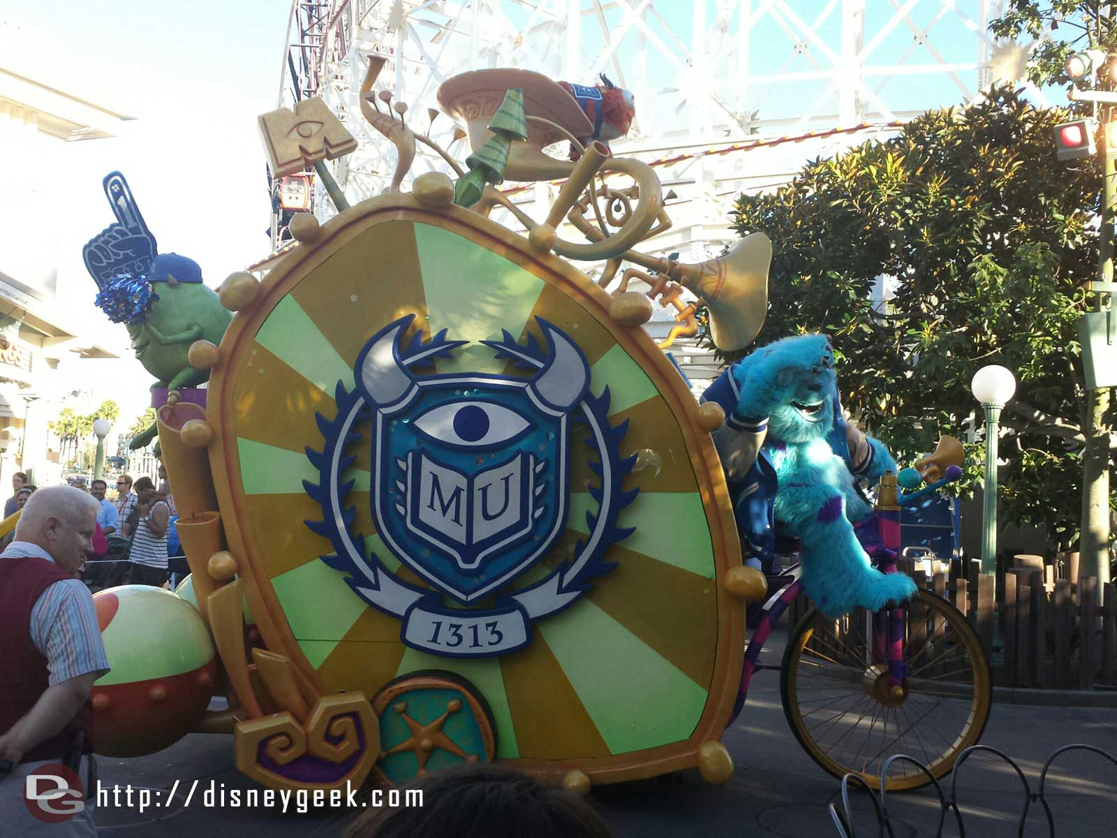 Monsters University leading off the Pixar Play Parade