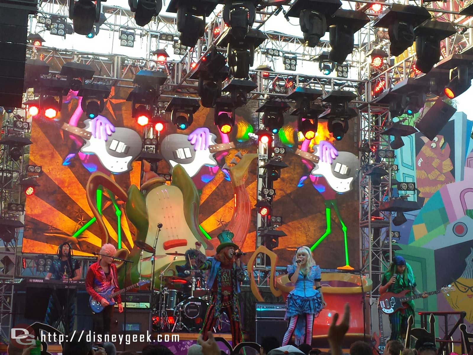 The #MadTParty band performing their opening set of the night