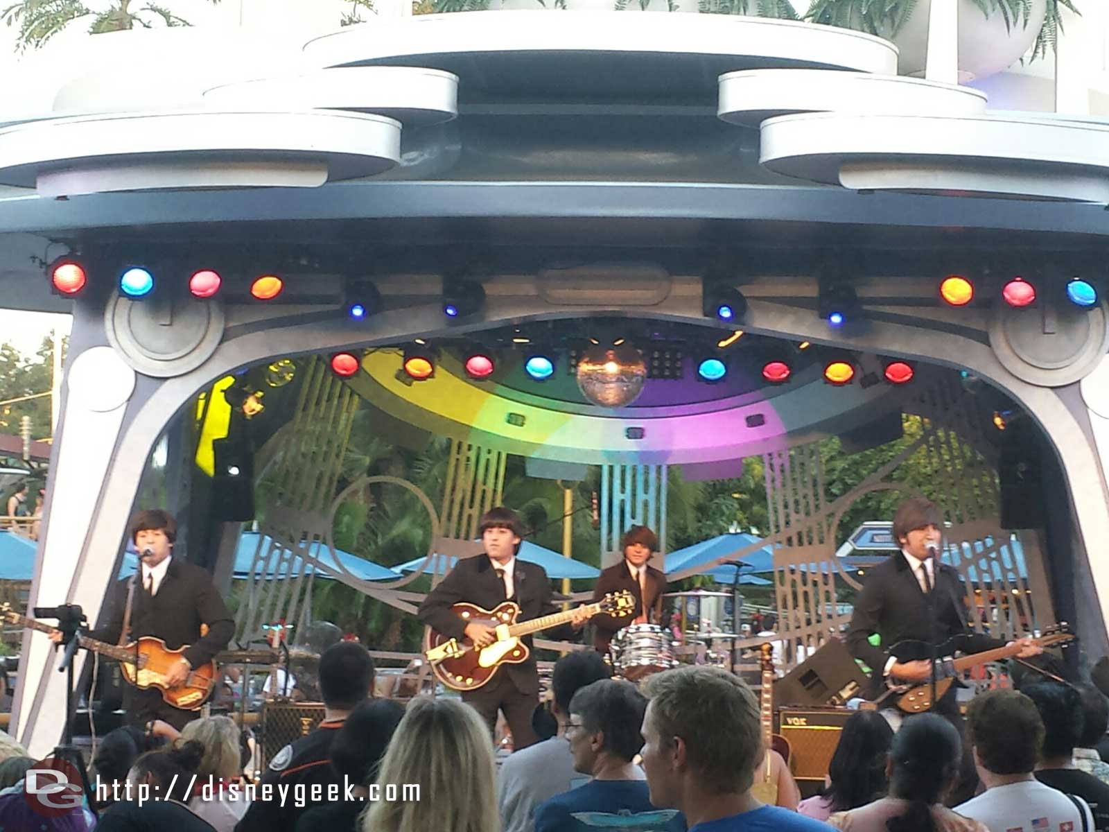 A Hard Day's Night a tribute to the Beatles are playing tonight at Tomorrowland Terrace #Disneyland